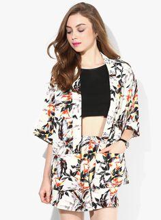 Buy Miss Selfridge Multicoloured Printed Summer Jacket Online - 2797568 - Jabong Summer Jacket, Lakme Fashion Week, Miss Selfridge, Casual Wear, Kimono Top, India, Printed, How To Wear, Jackets
