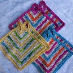 Crochet Cotton Potholders 3 Sets 6pc Dish by KorneliasKreations, $19.95