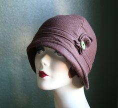Josephine  Women's Soft Felt Asymetrical Cloche  by FeltFancy