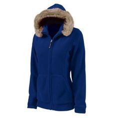 86eda2dd2d2 Women s Faux Fur Trimmed Fleece Hoodie Jacket from Charles River Apparel  Charles River Apparel.  34.99