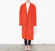 Stephen Sprouse Orange Coat
