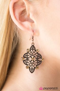 Singapore Sparkle Copper Earrings