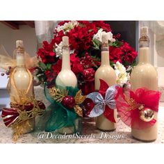 Helped my daughter make coquito bottles.