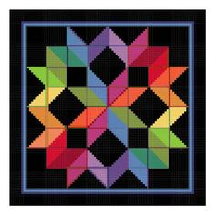 Amish Buggy Wheels Quilt Pattern | ... Wheel inspired by an Amish Quilt Counted Cross Stitch Chart Pattern