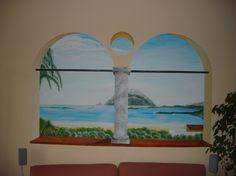 dipinto su parete con colori acrilici