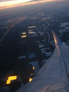 Flying above Amsterdam - 05.15am by Rocketride.