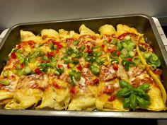 Naleśniki zapiekane z kurczakiem i warzywami - Blog z apetytem
