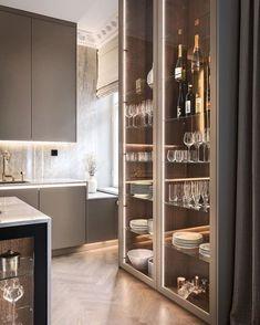 Kitchen Room Design, Luxury Kitchen Design, Luxury Kitchens, Home Decor Kitchen, Modern Interior Design, Interior Design Living Room, Küchen Design, House Design, Luxury Homes Interior