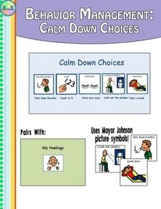 """FREE This behavior management strip pairs nicely with my social story """" When I get Angry"""". This helps the child make good choices when they are f..."""