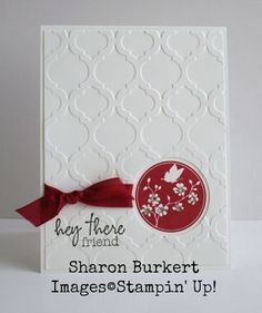 card by Sharon Burkert... would make a beautiful sympathy card - Stampin' Up products