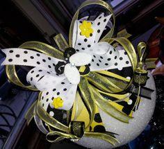 Beautiful Bumble Bee theme headband Bow by CreativeMoments4You
