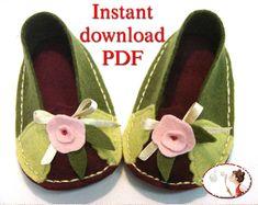 Shoes Sewing Pattern Felt Baby Pomegranate von LenasShoePatterns