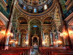 One of the most ornate churches- St. Josaphat Basilica, Milwaukee, WI. Third basilica in the USofA.