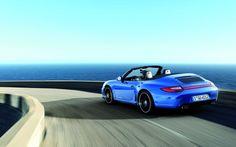 Aqua Blue Porsche 911 Carrera 4 GTS Cabriolet
