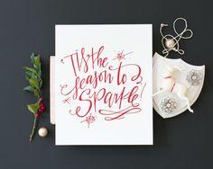 Sparkle! Print / Red Foil #lindsaylettersshop