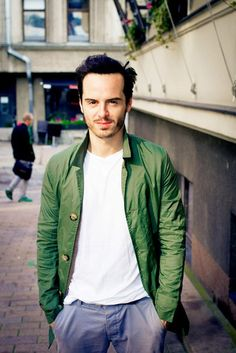 Andrew Scott in Helsinki, Finland, September 2014 >> what is he doing in Helsinki? And why do I have to be away just now?