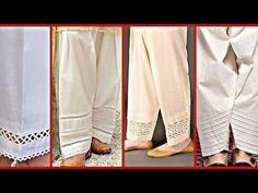 New Trending Shalwar & Trousers Designs Collection of 2019 Kurti Sleeves Design, Kurta Neck Design, Sleeves Designs For Dresses, Salwar Pattern, Salwar Pants, Pakistani Dress Design, Pakistani Dresses, Pakistani Kurta, Salwar Designs