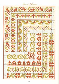 cross stitch borders -- LOTS of free charts here