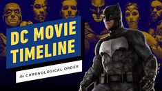 The DC Movie Timeline in Chronological Order All Dc Movies, Comic Movies, 2 Movie, Movie List, Movies To Watch, Movies And Tv Shows, Watch 2, Marvel Cinematic Universe Timeline, Marvel Order