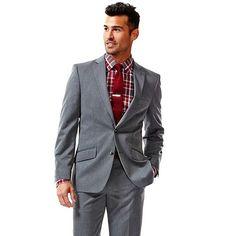 Haggar Slim-Fit Gabardine Heathered Dark Gray Suit Jacket #Kohls #MensFashion