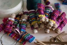 Worry Dolls that the mayan's passed down from generation to generation and they listen to your whispered fears and worries.