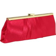 "Sale: 	$29.99 | Carlo Fellini - Viridiana Evening #Bag | Color:Red | satin, 20"" shoulder drop, Versatile Handbag that can be used as a clutch or shoulder/handle drop, Exclusive Carlo Fellini Bag, Pleated Fully Satin, Interior slide pocket, Snap Closure,"