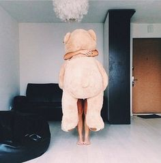 Most popular tags for this image include: girl, cute, love, bear and teddy Pink Lady, Giant Teddy Bear, Teddy Bears, Big Bear, Girly Things, Crazy Things, Girly Stuff, Make Me Smile, Photos