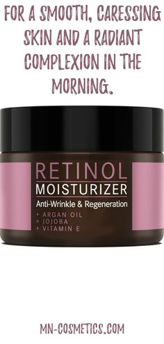 For a smooth, caressing skin and a radiant complexion in the morning. Vitamin E, Retinol Creme, Anti Aging, Anti Wrinkle, Mother Nature, Moisturizer, Skincare, Smooth, Cosmetics