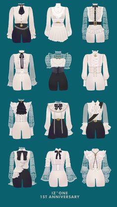 Kpop Fashion Outfits, Anime Outfits, Mode Outfits, Vintage Fashion Sketches, Fashion Design Drawings, Drawing Anime Clothes, Clothes Design Drawing, Manga Clothes, Kleidung Design