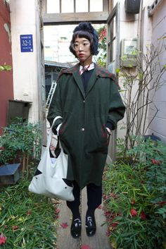 korea street fashion snap poto w.s.cfashion