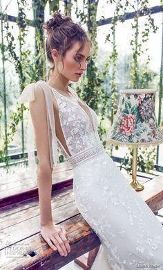 limor rosen 2019 xo bridal sleeveless deep v neck full embellishment romantic fit and flare wedding dress open back chapel train (9) zv #weddingdress