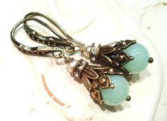 Ohrhänger - ♥Jade Dreams♥ Ohrhänger bronze-mint - ein Designerstück von -nicita- bei DaWanda