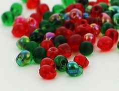 Holly and Ivy Fringe Bead Mix or Beads and Jump Rings - Warm and Spicy