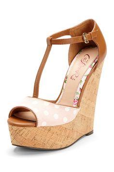 T-Strap Wedge Sandal