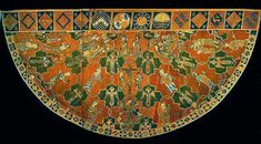 Cope from the 14th century. This Czech website has many costume images from the medieval period and includes some patterns as well. A good source for search terms as well since many of the items pictured are from museums and galleries both famous and less renowned.
