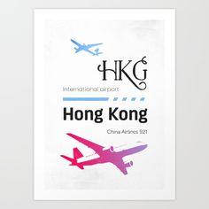 HKG airport code Art Print