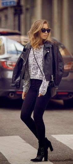 Luv to Look | Curating Fashion & Style: Street styles | Edgy leather