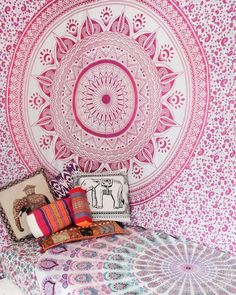 Phula: Flower   Soft feminine pinks make this ombre mandala perfect for those wanting to embrace & encouraged their softer, more feminine side. Available in a Queen Size Throw, Doona Cover & Roundies. Shop this Phula Ombre Mandala via link in bio: #anechantedlife.com.au