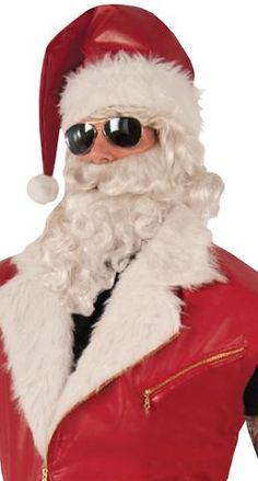 ec52a0a33f175 Red Faux Leather Santa Claus Hat Christmas Holiday Biker Costume Hat