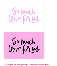 Free printable love note cards for Valentine's Day or anytime.
