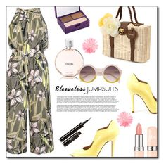"""Sleeveless jumpsuits"" by dorinela-hamamci ❤ liked on Polyvore featuring Quiz, Chanel, Urban Decay, Lancôme, polyvoreeditorial, polyvorecontest and sleevelessjumpsuits"