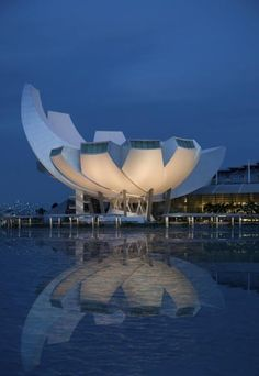 ArtScience Museum at Marina Bay Sands, Singapore.