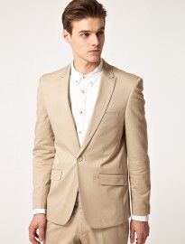 Vito 1 Button Blazer Like this color beige for the groom