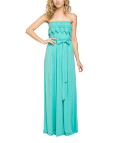 Look what I found on #zulily! Mint Lace Strapless Dress #zulilyfinds