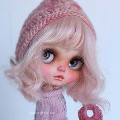 Kassandra Box doll, baby Byron on pink scalp