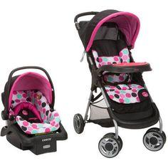 Disney Baby Lift and Stroll Travel System, Black Minnie Dottie - Walmart.com
