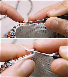 Вязание с бисером для начинающих (небольшой МК)