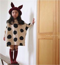 polka dot oversized t-shirt dress at Ebabee Shop …