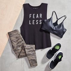 Love the camo pants! Cute Sporty Outfits, Trendy Outfits, Fashion Outfits, Teenage Girl Outfits, Outfits For Teens, Gym Outfits, Fitness Outfits, Girls Sports Clothes, Clothes For Women