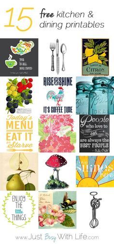 Printables Kitchen | Just Busy With Life
